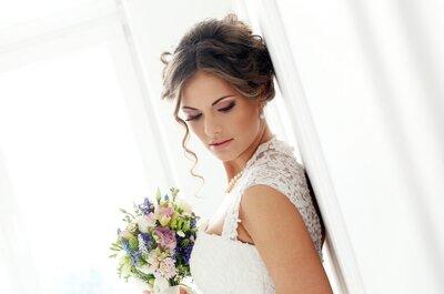 Penteados e maquilhagem de noiva para um casamento clássico: arrase!