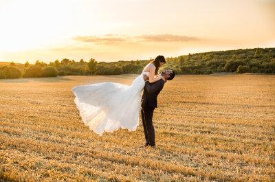 Émilie + Jean-Luc : Un joli mariage champêtre en rose pâle et vert d'eau en Provence