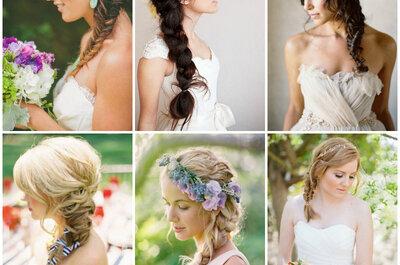 Romantyczne fryzury ślubne dla panny młodej z długimi włosami