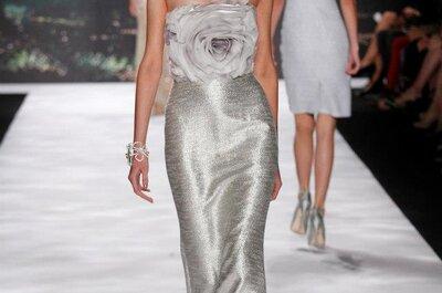 Vestido de noiva 'flor de prata', by Badgley Mischka
