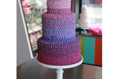 ¡Un arcoíris en tu torta de novios! Inspiración multicolor