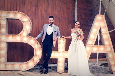 9 maneras de incluir vuestras iniciales en la decoración de boda