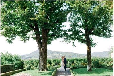 Real Wedding: Eine romantische und elegante Hochzeit in der Schweiz