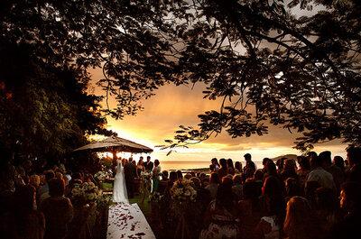 Sunset weddings: casamentos com pôr do sol ao fundo é tendência em Búzios