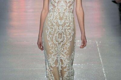Brocados, aplicaciones e ilusión en los vestidos de novia primavera 2015 de Rivini