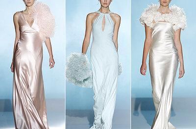 Vestidos de novia de satén: Una de las tendencias más 'sexys' de 2013