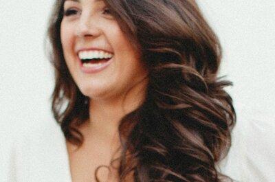 Os melhores penteados para noiva com cabelo solto