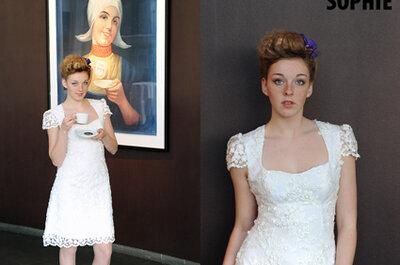 Das kleine Weiße - knielange Brautkleider für´s Standesamt