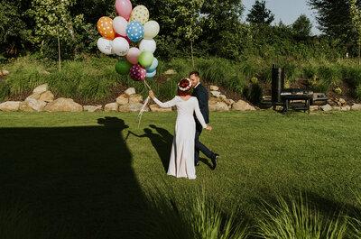 Balonowa sesja ślubna, w której się zakochasz. Tryska optymizmem!