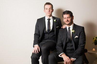 Amarillo y negro: Detalles que inspiran desde un matrimonio del mismo género