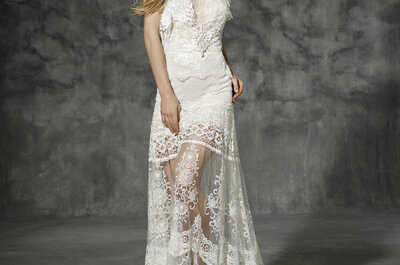 Perfekt eingekleidet: YolanCris zeigt Bräuten 2016, wie einzigartige Brautmode aussieht!
