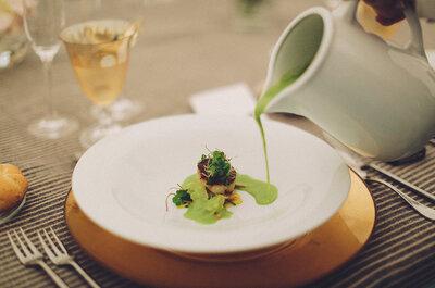 ¿Cómo puedo organizar un menú de boda vegetariano?