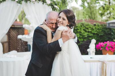 ¿Cómo reacciona el padre al ver a su hija el día del matrimonio?