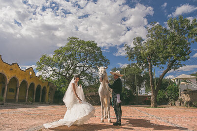 Real Wedding: Glamour, elegancia, caballos y un ejército de charros en la boda de Rebe y Jaider