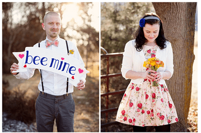 How loved up are you? A Valentine's Day-inspired engagement photo shoot