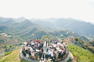 Far Above the Clouds: Christina + Tyrone's Wedding in Malibu