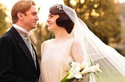 Inspiração britânica para seu look de noiva: tiara de folhas ao estilo de Lady Mary do seriado