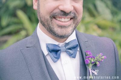 Cómo combinar la flor del traje del novio: 6 consejos para elegir el boutonniere