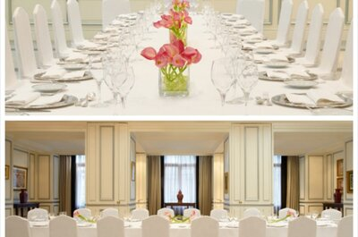 Gourmet wedding reception menus at The Westin Palace, Madrid
