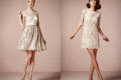 Vestidos románticos en colores nude y pastel para tus damas de boda 2013