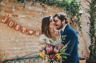 Mini wedding rústico chic de Angélica e Ricardo: grande dia perfeito na Casinha Quintal!