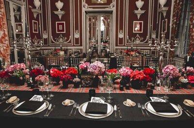 Noche de gala con toque punk en la cena de clausura del curso para wedding planners