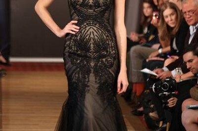 Vestido de noiva black&nude by Ines di Santo 2013