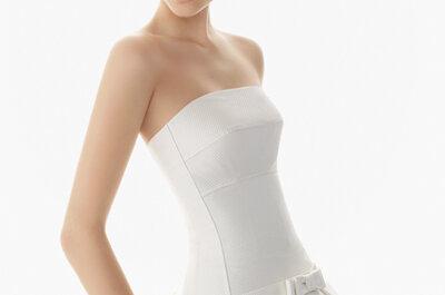 Suknie ślubne bez ramiączek z kolekcji 2013