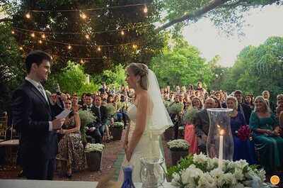 Casamento ao ar livre de Rosana e Francisco: alegria contagiante em Porto Alegre
