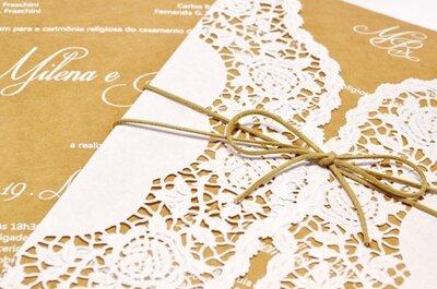 Amor e bom gosto no papel: 8 fornecedores incríveis de convites de casamento em Curitiba