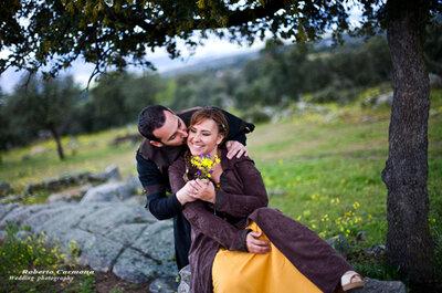 La boda y preboda medievales de Loli y Mingo