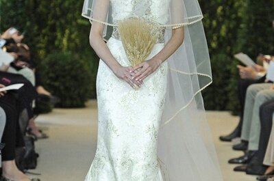 El vestido de la semana: una novia con toques dorados