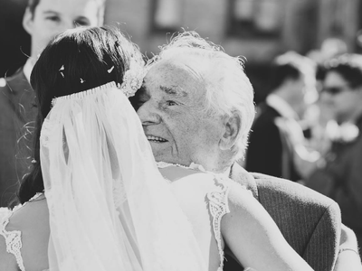The best company on the most important day of your life: your father
