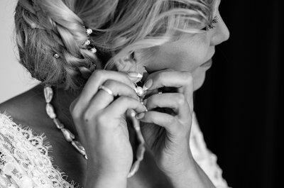 Wie wählt man den passenden Haarschmuck zur Brautfrisur aus? Auf die Accessoires kommt es an!