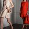 Vestidos de fiesta 2014 en color rojo intenso y nude