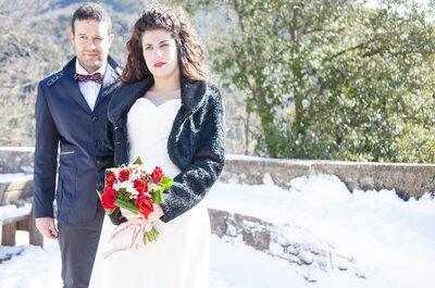 Il meraviglioso matrimonio d'inverno di Linda e Marco, tra neve e tartan