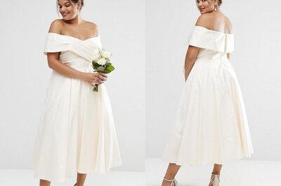 Los 9 vestidos ideales para una 'curvy' novia: ¿con cuál te quedas?