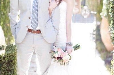 Real Wedding: Una boda romántica en un precioso jardín europeo