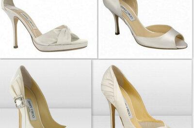Elegantes e modernos sapatos de noivas Jimmy Choo