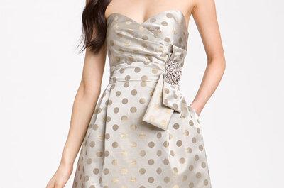 Vestidos elegantes en color gris para una boda en verano