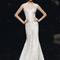 Vestido de novia 2013 sin mangas con cauda y escote amplio para otoño