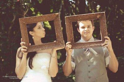 Molduras de quadros nas fotos do seu casamento: estilo e criatividade