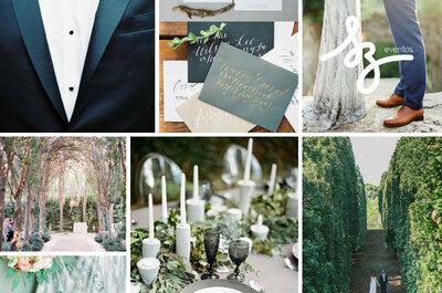 Cómo tener una boda muy sofisticada y romántica en azul y gris: Ideas para una decoración de ensueño