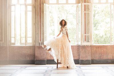 Manga longa em vestidos de noiva: modelos perfeitos para um casamento no inverno!
