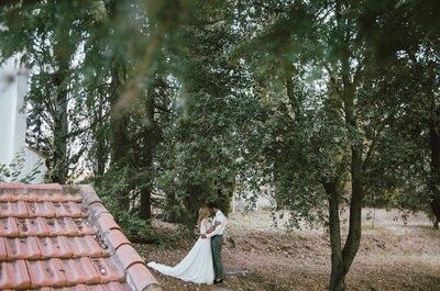 A medio camino entre lo rústico y lo vintage: la boda de Carmen y Carlos