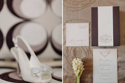 Um casamento a castanho-e-branco... no post do dia