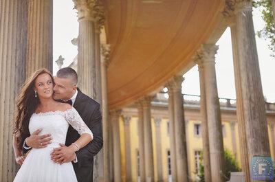 Sesja ślubna w zamku i ogrodach królewskich. Marzysz o takich zdjęciach!