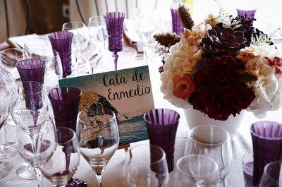 Claves para personalizar las mesas del banquete nupcial. ¡Olvídate de los números!