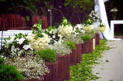 Decoración de una boda en el campo