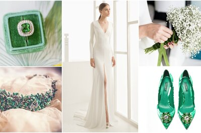 Look of the Week: Bridal with a Touch of Green(ery) - Pantone's 2017 Color